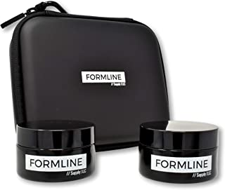 Formline Smell Proof Container Bundle (50 ml UV Glass Jars) - Airtight Stash Jar w/Black Ultraviolet Glass Preserves Contents and Odors Inside Includes Discreet Travel Case to fit in Bags or Backpack