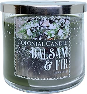 Balsam and Fir Scented Candle with Three Wicks