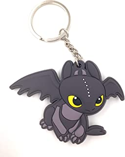 CellDesigns Japanese and US Anime Character Souvenir Collection (How to Train Your Dragon Toothless (Night Fury)-Keychain)