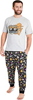 MARVEL Mens Pyjamas Set, Guardians of The Galaxy Pyjamas for Men with Character Groot, 2 Piece Pjs Short Sleeve Top and Lo...