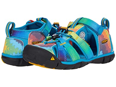 KEEN Kids Seacamp II CNX (Little Kid/Big Kid) (Vivid Blue/Original Tie-Dye) Girls Shoes