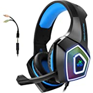 Gaming Headset with Mic for Xbox One PS4 PC Switch Tablet Smartphone, Headphones Stereo Over Ear...