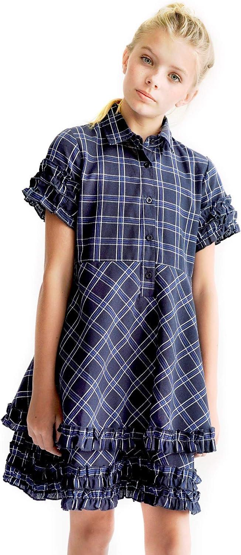 Smukke, Big Girls Tween Printed A-Line Long Sleeves Dress (Many Options), 7-16