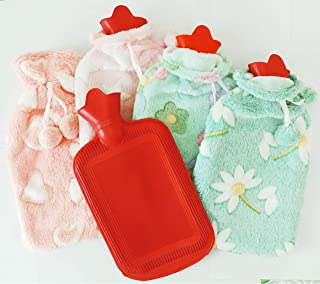 Torix Rubber Hot Water Bag Hand Warmer Warming Bottle Feet Warm Plush Fabric Winter Warming With Cute Cotton cover colorfu...