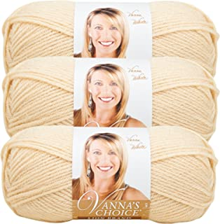 (3 Pack) Lion Brand Yarn 860-123I Vanna's Choice Yarn, Beige