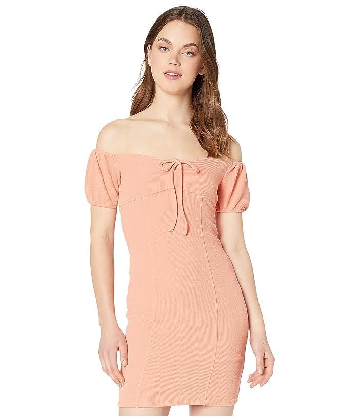 BCBGeneration  Cocktail Off-the-Shoulder Dress TRT6268184 (Papaya) Womens Dress