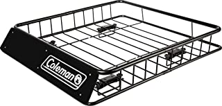 Coleman Roof Top Rack Cargo Carrier - for Vehicles with and Without Rails - All Weather Steel Basket