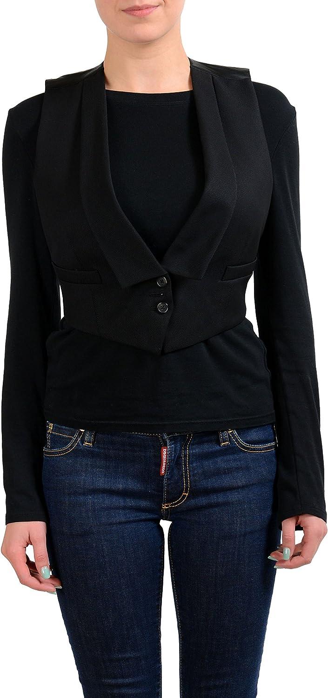 MAISON MARGIELA 1 100% Wool Black Women's Vest US M IT 42