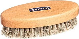 [サフィール] 革製品の磨き上げに適した馬毛ブラシ ポリッシャーホースヘアブラシ 天然馬毛100% 靴磨き バッグ 手入れ ほこり落とし メンズ