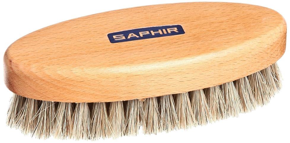 薄い溝耐える[サフィール] ポリッシャーホースヘアブラシ 靴磨き バッグ 手入れ ほこり落とし 仕上げ ツヤ 9552640 (ホワイト) メンズ