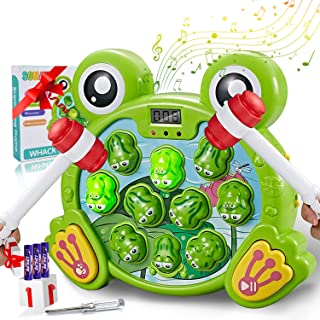 [2020 Version] Whack A Frog Game, Interactive Pounding Toy for Early Learning Gifts Toys for 2 3 4 5 6Year Old Boys Fun Gi...