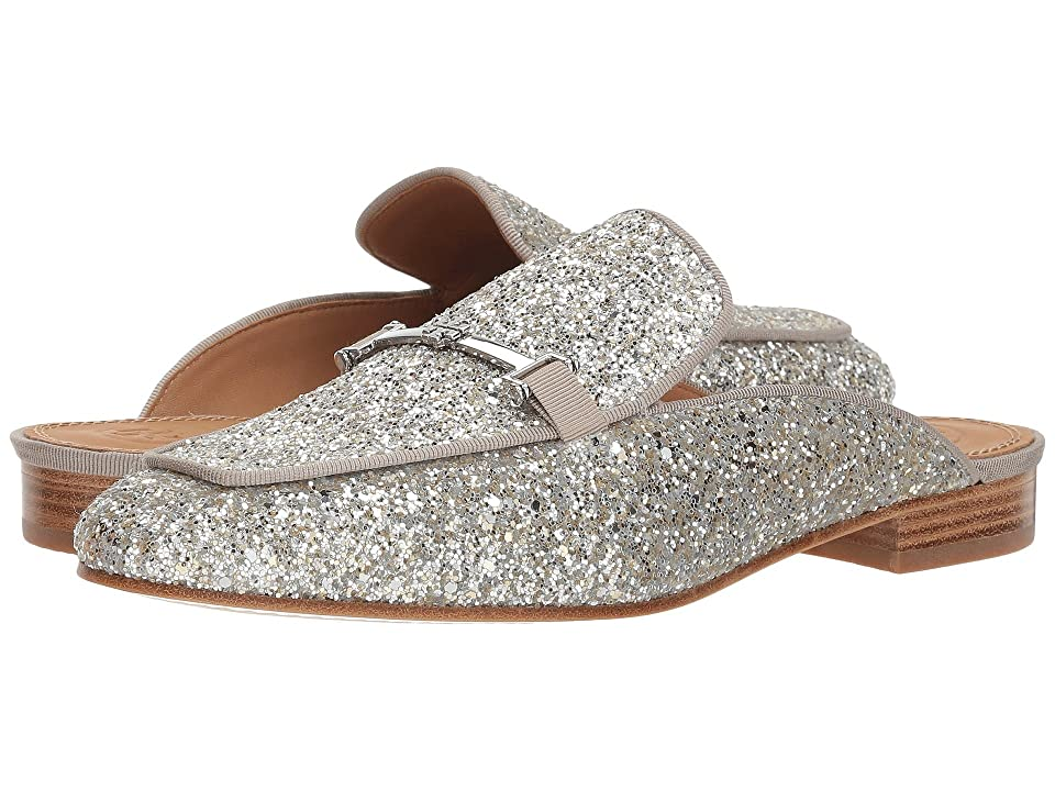 Tory Burch Amelia Backless Loafer (Silver/Silver) Women