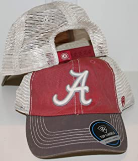 University of Alabama Crimson Tide Off Road Tri Color Red Cotton Mesh Mens/Womens/Youth Team Trucker Baeball Hat/Cap Size Adjustable