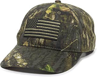 Mossy Oak USA American Flag Camo Hat - Adjustable Baseball Cap for Men & Women