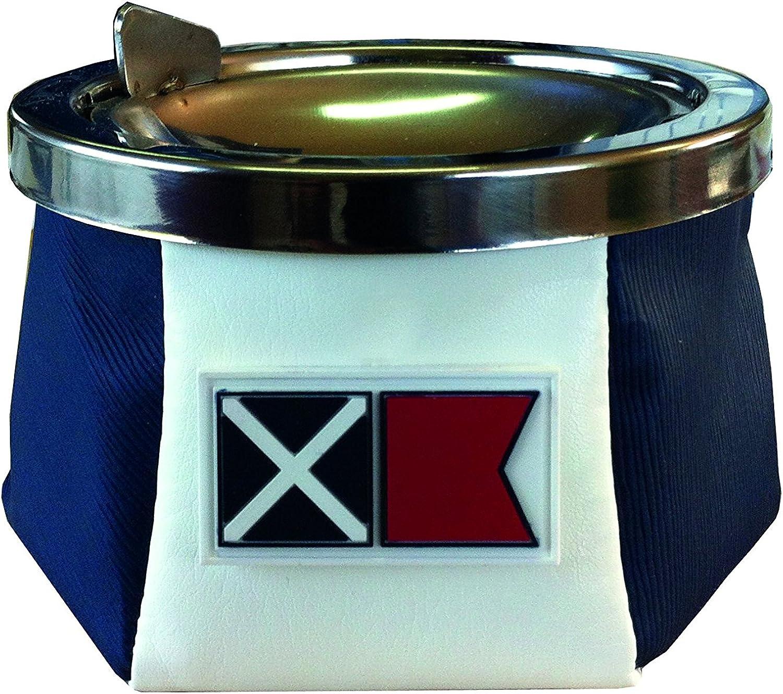 Aschenbecher Aschenbecher Aschenbecher Inox und Leder weiß blau - Marine Business B00UAIPLMY 4c2bc0