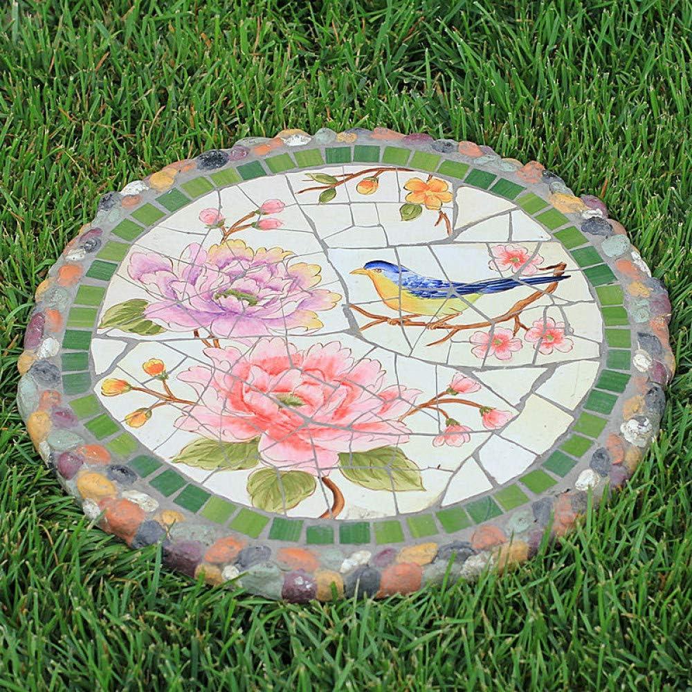 Amazon.com  zenggp Garden Stepping Stone Mosaic Flower Plant ...