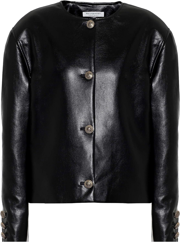 Philosophy Di Lorenzo Serafini Black Vegan Leather Jacket
