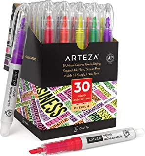 PRINDIY 12 Pcs doppia testa Evidenziatori Set evidenziatore Penne Arcobaleno pastello Highlighter a studenti in classe di Office con 12 colori