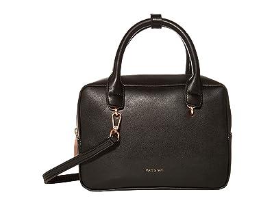 Matt & Nat Taha Loom (Black/Rose Gold) Handbags