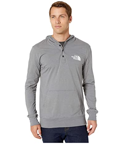 The North Face Henley New Injected Pullover Hoodie (TNF Medium Grey Heather) Men