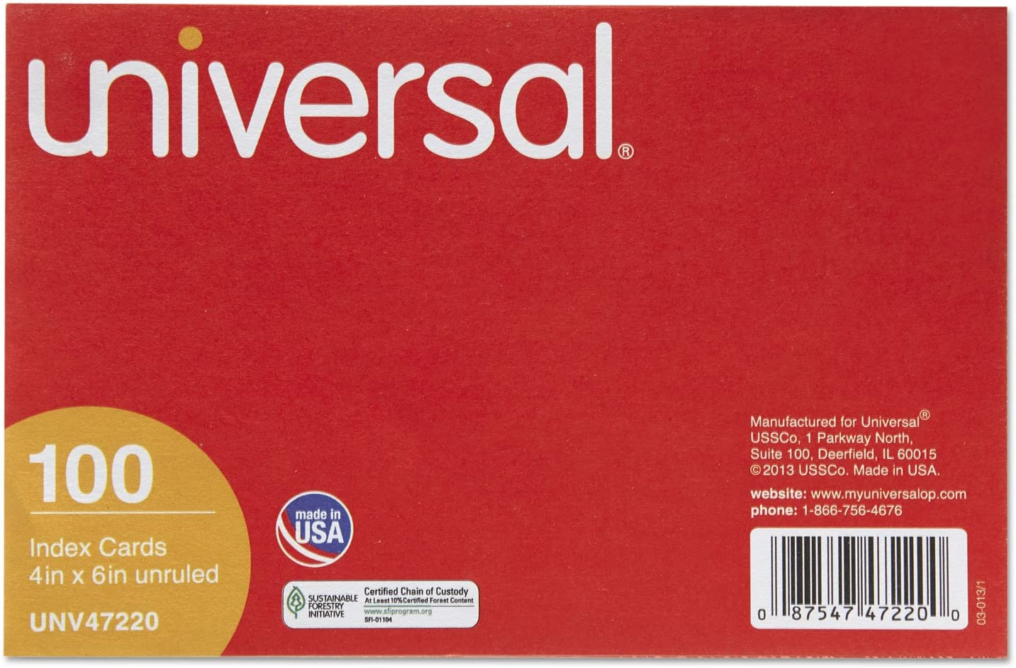 Easy-to-use UNV47220 - Unruled Index Max 83% OFF Cards