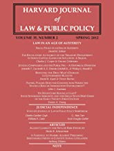Harvard Journal of Law & Public Policy, Volume 35, Issue 2 (Pages 453 - 819)