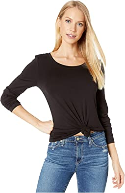 Lightweight Viscose Long Sleeve Crew Neck Tee