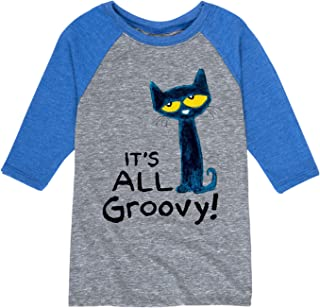 Pete The Cat It`s All Groovy - Toddler Raglan