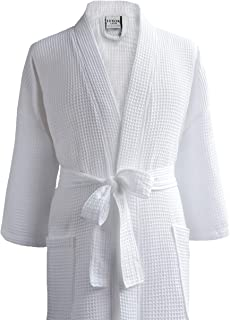 Luxor Linens Waffle Robes - Giovanni Collection (1 Robe - No Monogram, White)