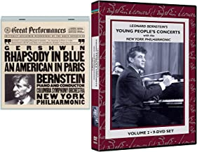 New York Young People's Classical Concert Leonard Bernstein Lincoln Center Vol. 2 Philharmonic Orchestra 9 DVD Set + Gershwin: Rhapsody In Blue An American In Paris Symphony Orchestra CD
