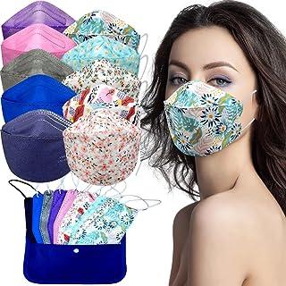 Cussi - 10x/20x Mascarilla Protectora FFP2 NR Adulto 5 capas Colores Variados (forma de Pez) + Mask Case color aleatorio