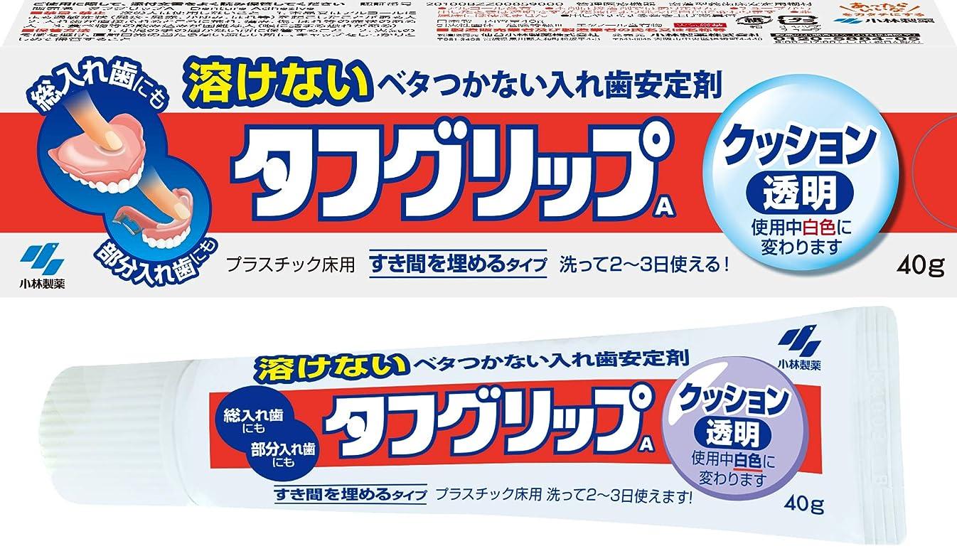 第またガイドラインタフグリップクッション 透明 入れ歯安定剤(総入れ歯?部分入れ歯) 40g