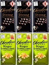 product image for Chocolove Strong Dark chocolate, Ginger Cristallized in Dark chocolate 3.2 oz (3 bars of each flavor)