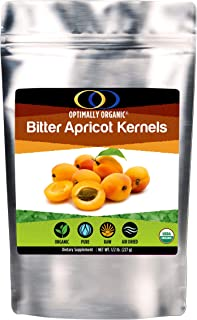 Organic Apricot Seeds (Grown in Canada) | Raw Apricot Kernels, Bitter Apricot Seeds, Vitamin B17/Amygdalin, Essential Fatty Acids, Vegan, Air Dried At Low Temperature, 1/2 Pound