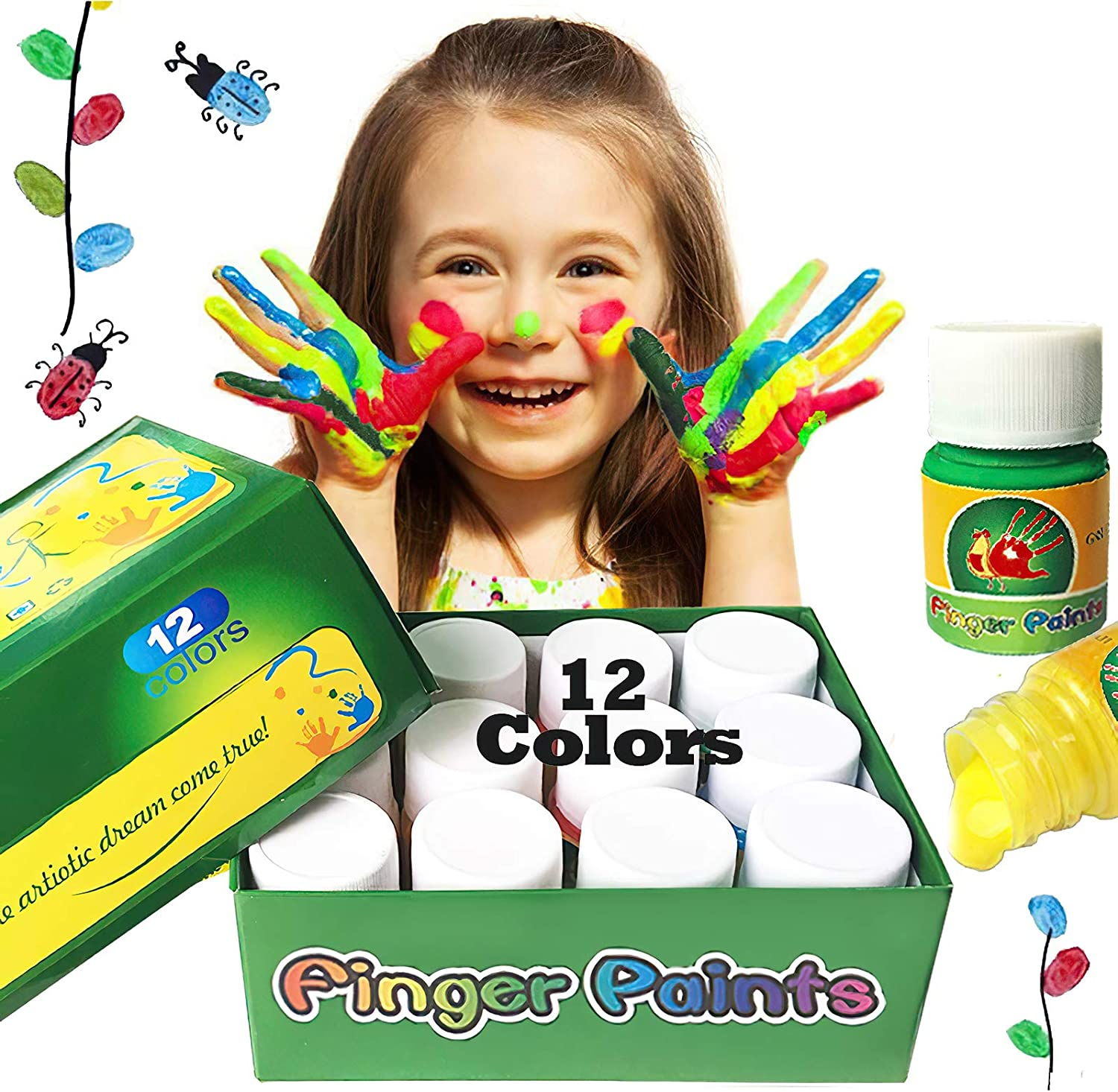 Happlee Washable Finger Paint Paints Non-Toxic Time sale Kids for Sale price