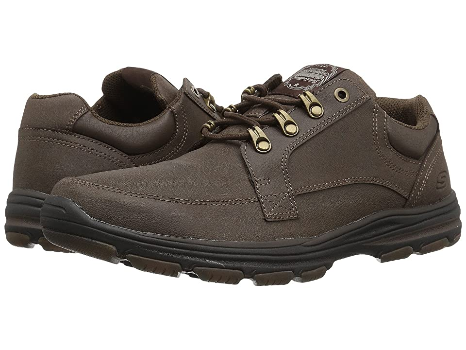 SKECHERS Classic Fit Garton Briar (Chocolate Leather) Men