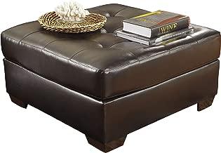 Ashley Furniture Signature Design - Alliston Contemporary Upholstered Oversized Accent Ottoman - Chocolate
