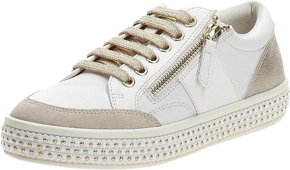 Geox d leelu` e, scarpe da ginnastica basse donna sneakers D94FFE08554
