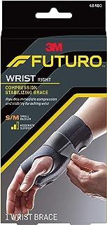 Futuro Energizing Wrist Support, Moderate Stabilizing Support, Right Hand, Small/Medium, Black