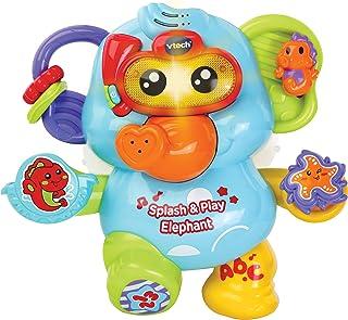 VTech Splash & Play - Electronic Bath Elephant Toy for Kids - 515303 2.5 x 2.5 x 0.95 cm(WxHxD) Multicolor