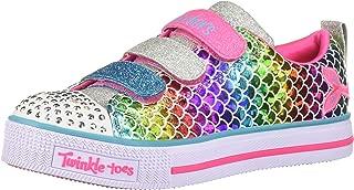 Skechers Kids' Twinkle Lite-Sparkle Scales Sneaker