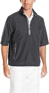 Zero Restriction Men's Power Torque 1/2 Sleeve Packable Rain Jacket