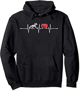 Horse Heartbeat Gift Animal Lover Funny EKG Horse Cute Pullover Hoodie