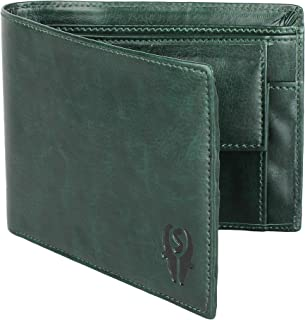 WALLETIN Dark Green Artificial/PU Leather Wallet for Men - 02 Currency Compartments 02 Hidden Pocket 3 Credit Card Slots 01 Coin Pocket