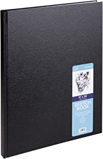 Pro-Art Pro Art Hard Bound Sketch Book, 11 by 14-Inch, Black (110 Pages)