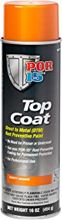 POR-15 46218 Top Coat Safety Orange Spray Paint, 16. Fluid_Ounces