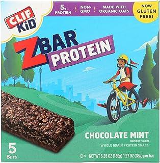 Clif Kid Zbar Organic Kid Zbar Protein - Chocolate Mint - Case of 6 - 1.27 oz.