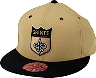 Mitchell & Ness New Orleans Saints NFL, 2 Tone Shield Logo Hat, TT26M, Gold & Black