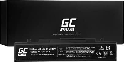 Green Cell Ultra Serie AA-PB9NC6B AA-PB9NS6B Akku f r Samsung R519 R522 R525 R530 R540 R580 R620 R719 R780 Laptop  Original Panasonic Zellen  6800mAh  Schwarz