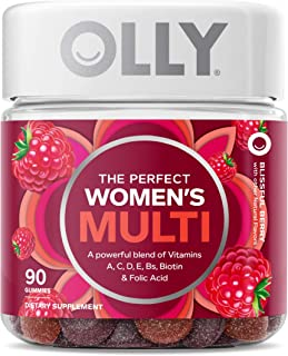 OLLY The Perfect Womens Gummy Multivitamin, 45 Day Supply (90 Gummies), Blissful Berry,..